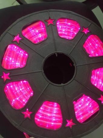 圆二线彩虹管粉色